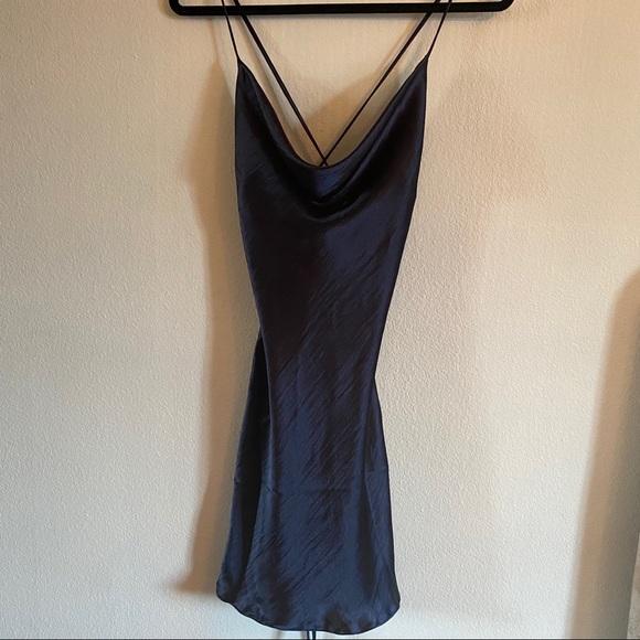 ASOS MIDNIGHT BLUE SLIP DRESS